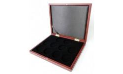 Деревянный футляр Volterra для 10 монет в капсулах диаметром 44 мм.