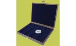 Деревянный футляр для серии монет 1 доллар Австралии Лунар 2 в капсулах