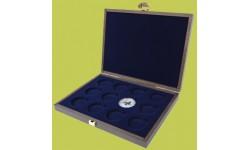 Деревянный футляр для серии монет 50 центов Австралии Лунар 2 в капсулах