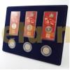 Планшет для 3 монет 25 р в блистере и 3 монет 25 р в капсулах д44 мм.