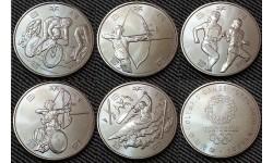 Набор из 5 монет Японии 100 йен 2020 г. Олимпиада в Токио 2020, третий выпуск