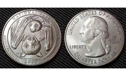 25 центов США 2020 г. Национальный парк Американского Самоа, парк №51 двор D
