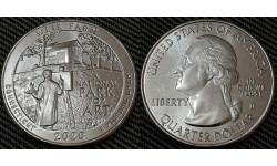 25 центов США 2020 г. Национальный парк Вейр Фарм, штат Коннектикут, парк №52