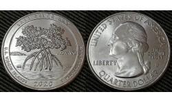 25 центов США 2020 г. Национальный парк Солт Ривер Бэй, Виргинские острова, парк №53