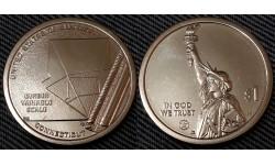 1 доллар инновации США 2020 г. Шкала переменных Гербера, штат Коннектикут