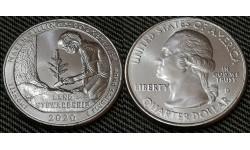 25 центов США 2020 г. Национальный исторический парк Рокфеллера, парк №54