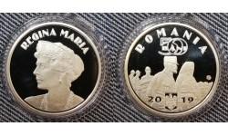 50 бани Румынии 2019 г. Королева Мария Эдинбургская, proof в капсуле