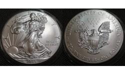 1 доллар США 2014 г. Шагающая свобода, в капсуле - серебро 999 пр.