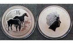 50 центов Австралии 2014 г. год лошади, Лунар 2