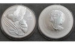 1 доллар Австралии 2020 г. Год крысы (мыши), Лунар 3