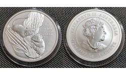 50 центов Австралии 2020 г. год крысы (мыши), Лунар 3
