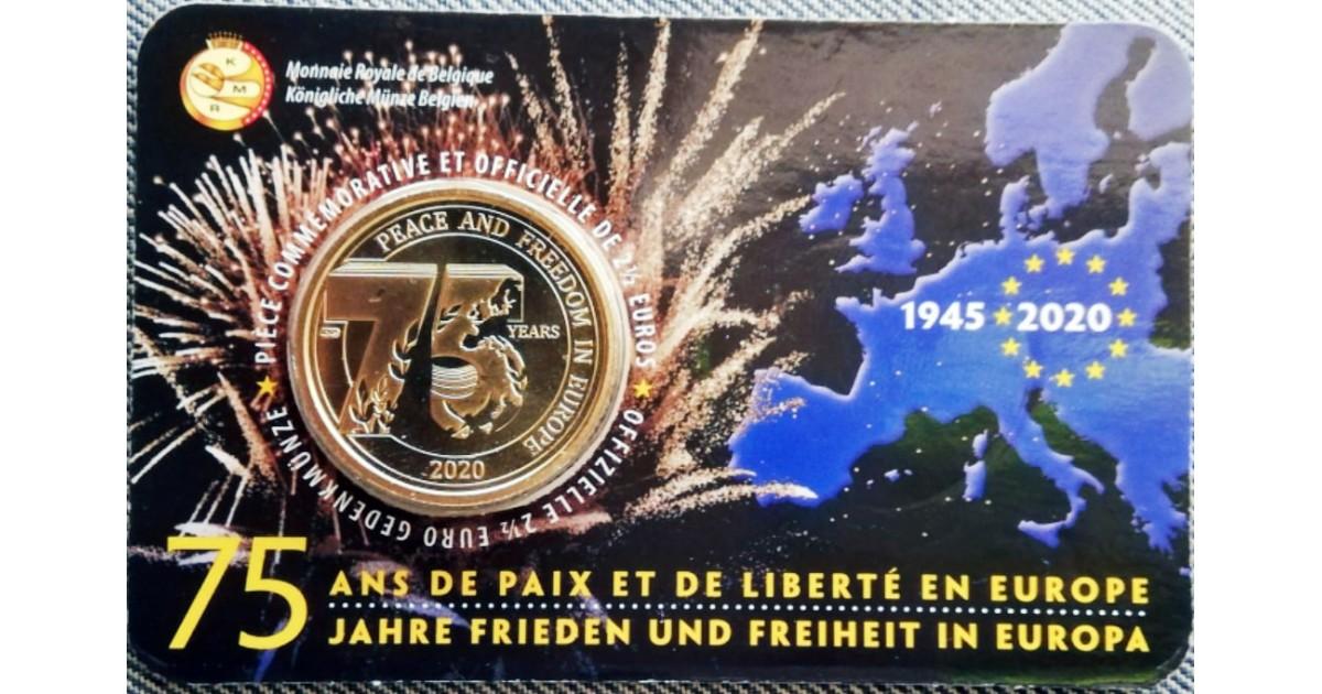 2,5 евро 75 лет Мира и Свободе в Европе Бельгия 2020 год - купить