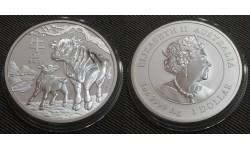 1 доллар Австралии 2021 г. год быка, Лунар 3