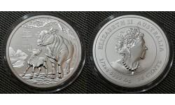 50 центов Австралии 2021 г. год быка, Лунар 3