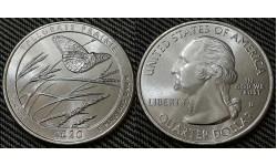 25 центов США 2020 г. Заповедник Толлграсс-Прери, Канзас, парк №55