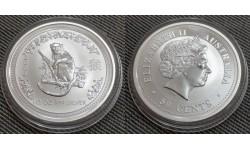 50 центов Австралии 2004 г. год обезьяны, Лунар 1
