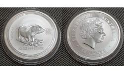 50 центов Австралии 2007 г. год свиньи, Лунар 1