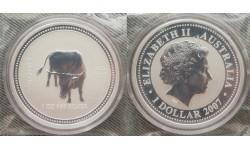 1 доллар Австралии 2007 г. год быка, Лунар 1