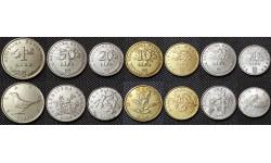 Набор из 7 монет Хорватии 1999-2009 гг. 1,2,5,10,20,50 лип и 1 куна