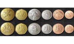 Набор из 6 монет Малави 1995-2004 гг.. 1,2,5,10,50 тамбала и 1 квача
