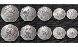 Набор из 5 монет Сан-Томе и Принсипи 1997 г. 100,250,500,1000,2000 добра