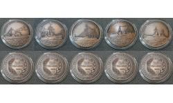 Набор из 5 монет Турции 2,5 лиры 2015 г. Боевые корабли