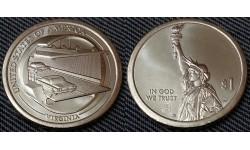1 доллар инновации США 2021 г. Мост-тоннель через Чесапикский залив, штат Вирджиния - №11 двор D