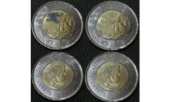 Набор из 2 монет Канады 2 доллара 2021 г. 100-летие открытия инсулина