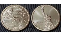 1 доллар инновации США 2021 г. Канал Эри, штат Нью Йорк - №12 двор D