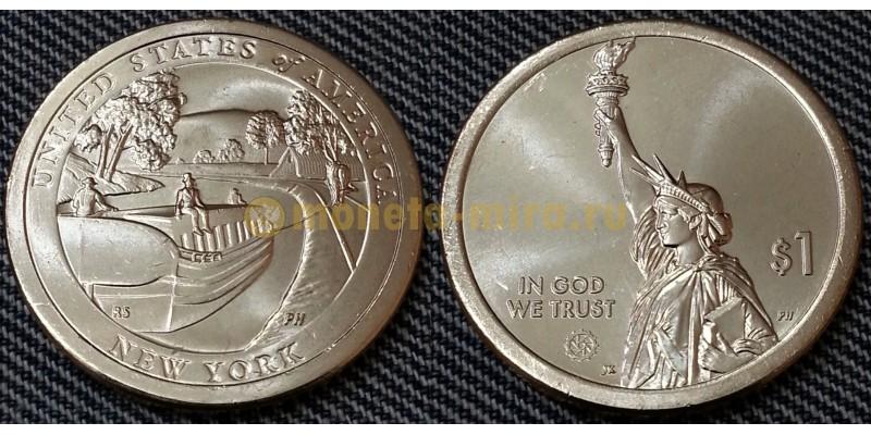 1 доллар инновации США 2021 г. Канал Эри, штат Нью Йорк - №12 двор P