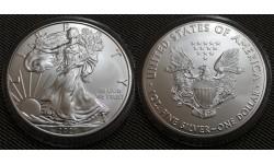 1 доллар США 2021 г. Шагающая свобода, в капсуле - серебро 999 пр.