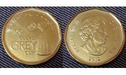 1 доллар Канады 2012 г. 100 летие Кубка Грея