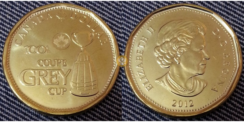 1 доллар Канады 2012 года -  100 летие Кубка Грея