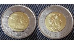 2 доллара Канады 2016 г. 75 лет Битве за Атлантику