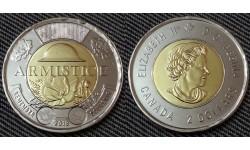 2 доллара Канады 2018 г. Окончание Первой Мировой Войны 1918 г. - обычная