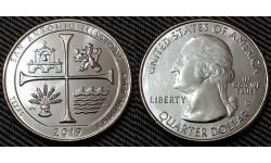 25 центов США 2019 г. Национальный парк Миссии Сан-Антонио, №49 двор D