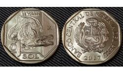 1 соль Перу 2017 г. Острорылый крокодил