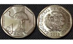1 соль Перу 2018 г. Страус Нанду (Suri)