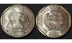 1 соль Перу 2018 г. Горный тапир