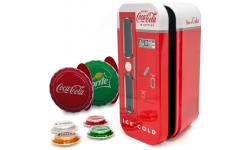 Набор из 4 монет 1 доллар Фиджи 2020 г.  в виде крышок от Coca-Cola,Fanta,Sprite,Diet Coke, серебро 999 пр.