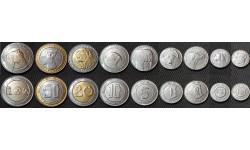 Набор из 9 монет Алжира 1992-2019 гг.. Животные (фауна)