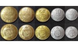 Набор из 5 монет Коста-Рики 2005-2006 гг.. 5,10,25,50,100 колонов