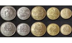 Набор из 5 монет Марокко 2002 г.