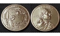 1 доллар США 2019 г. Индейцы в космосе, серия Сакагавея, двор D