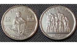 50 центов Фиджи 2017 г.  Команда по регби, 7 чемпионы Олимпиады 2016