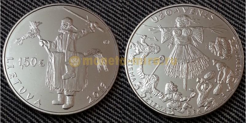 1,5 евро Литвы 2019 г. Масленица