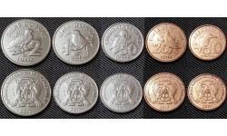 Набор из 5 монет Сан-Томе и Принсипи 2017 г. серия птицы
