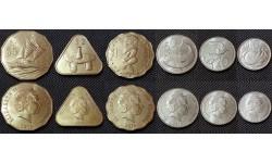 Набор из 6 монет Острова Кука  2015 г. 10,20,50 центов и 1, 2,5 долларов