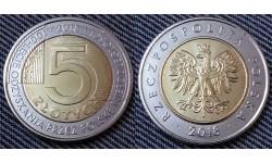 5 злотых Польши 2018 г. 100 лет независимости