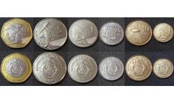 Набор из 6 монет Сейшел 2016 г. 1,10,25 центов, 1,5 и 10 рупий